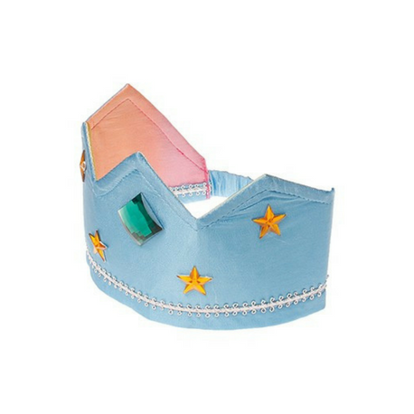 Sarah's Silks Reversible Crown, Rainbow/Sky Blue - Adams Attic