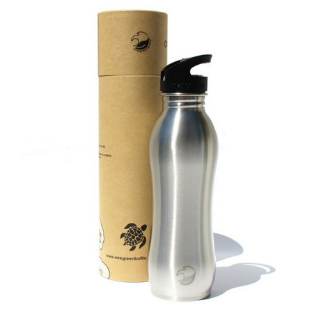 One Green Bottle 800ml NEW Curvy Canteen Nude