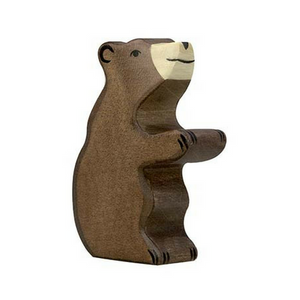 Holztiger Brown Bear Small Sitting - Adams Attic