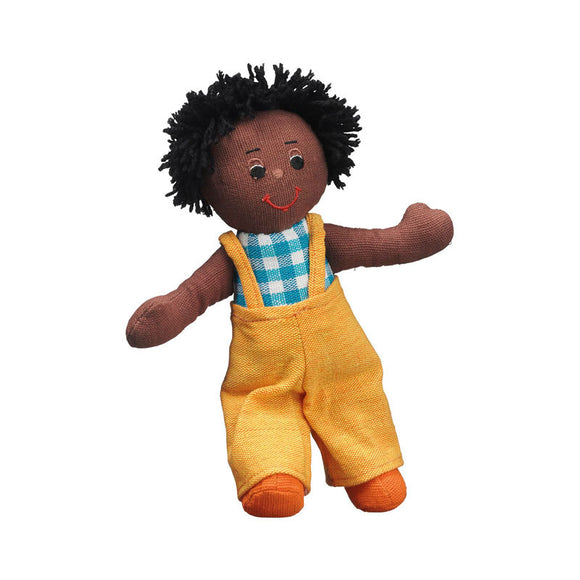 Boy doll - black skin black hair - Adams Attic