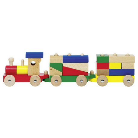Goki Rom Train with Bricks - Adams Attic