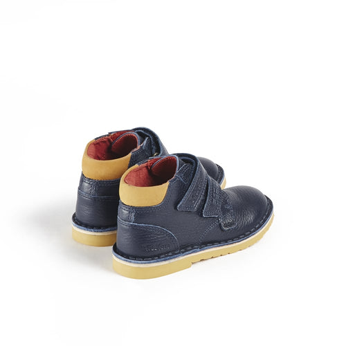 Kickers Adlar Twin leather Dark Blue - Adams Attic