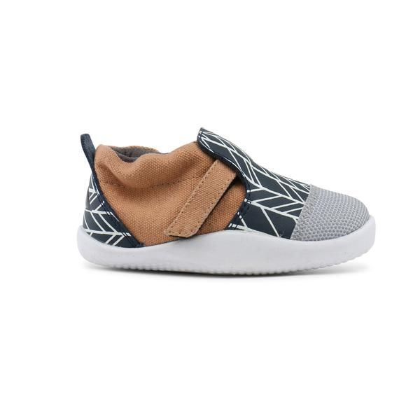 Bobux Xplorer Navy/White Herringbone City - Adams Attic
