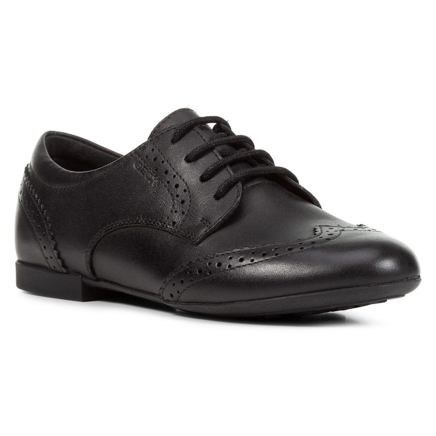 Geox Plie'e Smooth Leather Lace Up - Adams Attic