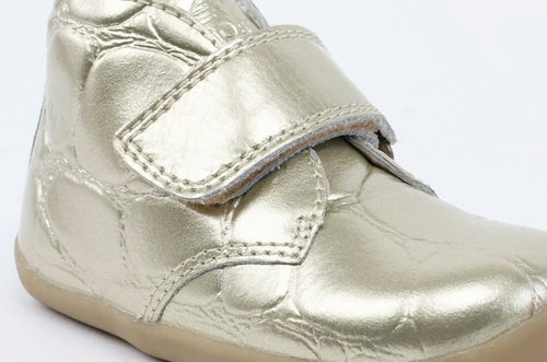 Bobux Step Up Desert Boot Gold Croc Embossed - Adams Attic