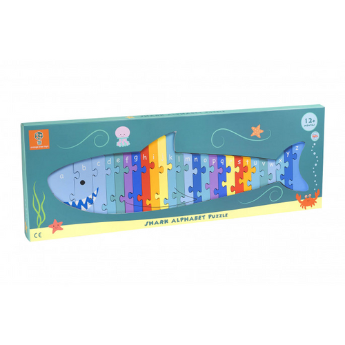 Orange Tree Toys Shark alphabet puzzle - Adams Attic