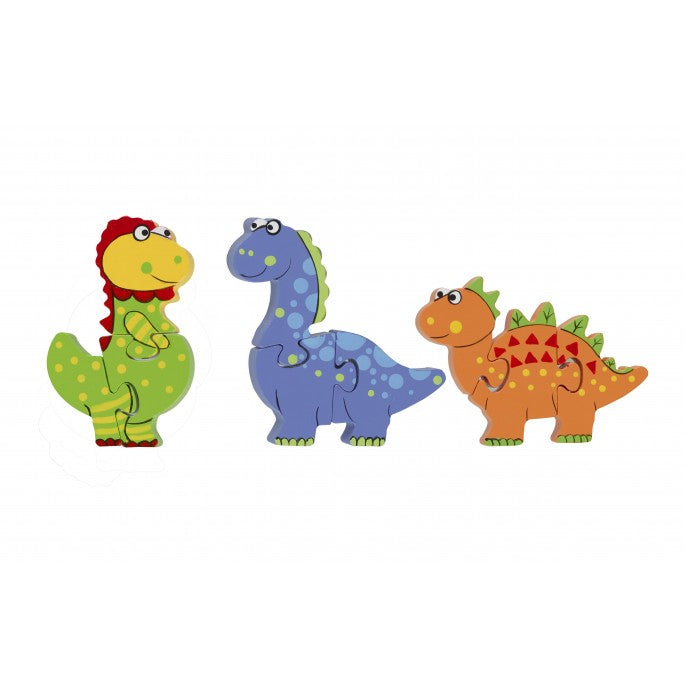 Orange Tree Toys Puzzle Set Dinosaur - Adams Attic