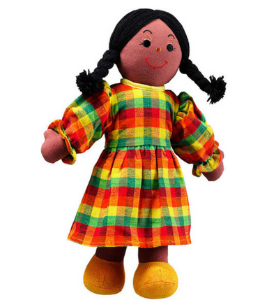 Mum doll - black skin black hair