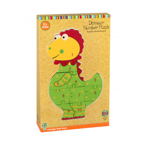 Orange Tree Toys Number Puzzle Dinosaur - Adams Attic