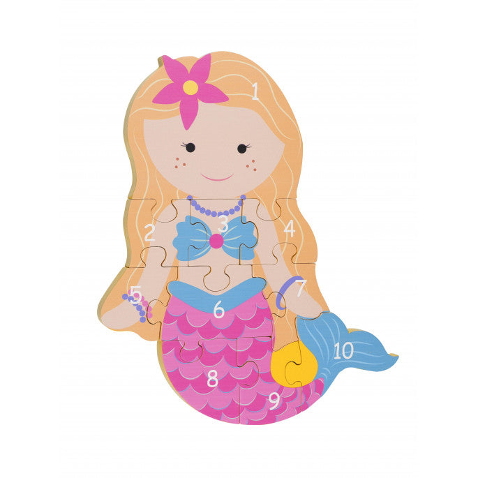 Orange Tree Toys Number Puzzle Mermaid - Adams Attic