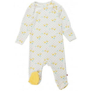 Piccalilly Tiny Geese Footed Sleepsuit