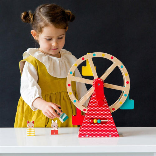 Petit Collage Carnival Play Set Wooden Ferris Wheel - Adams Attic