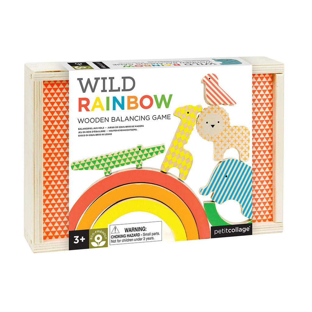 Petit Collage Wooden Balancing Game - Wild Rainbow - Adams Attic