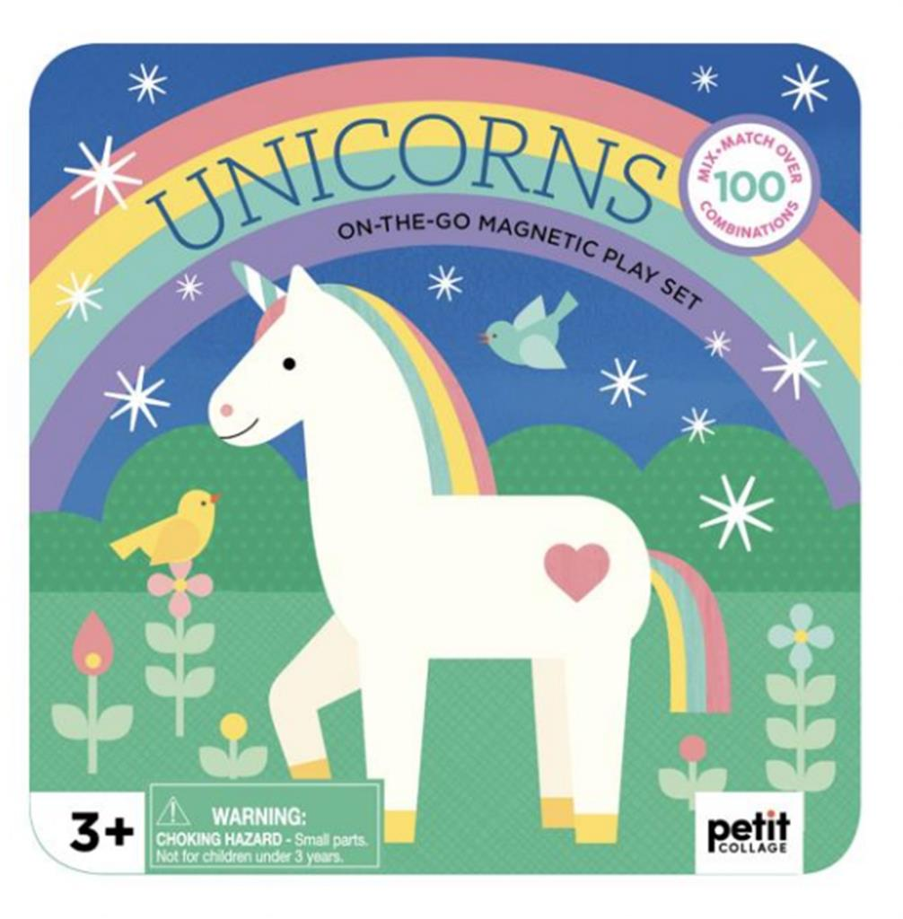 Petit Collage Magnetic Play Set - Unicorns - Adams Attic