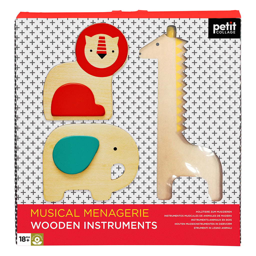 Petit Collage Musical Menagrie Wooden Instruments - Adams Attic