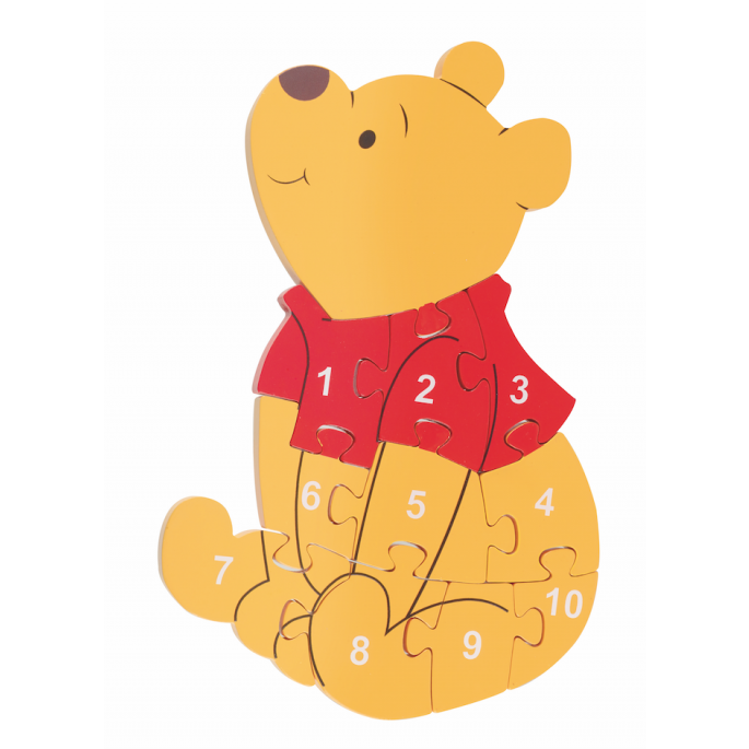 Orange Tree Toys Number Puzzle Winnie The Pooh - Adams Attic
