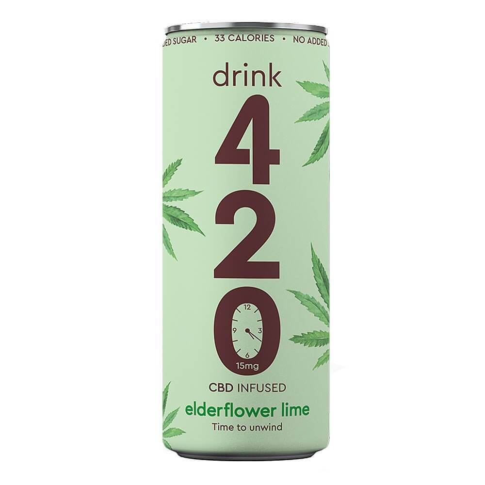 Drink 420 Elderflower Lime 15mg CBD 250ml