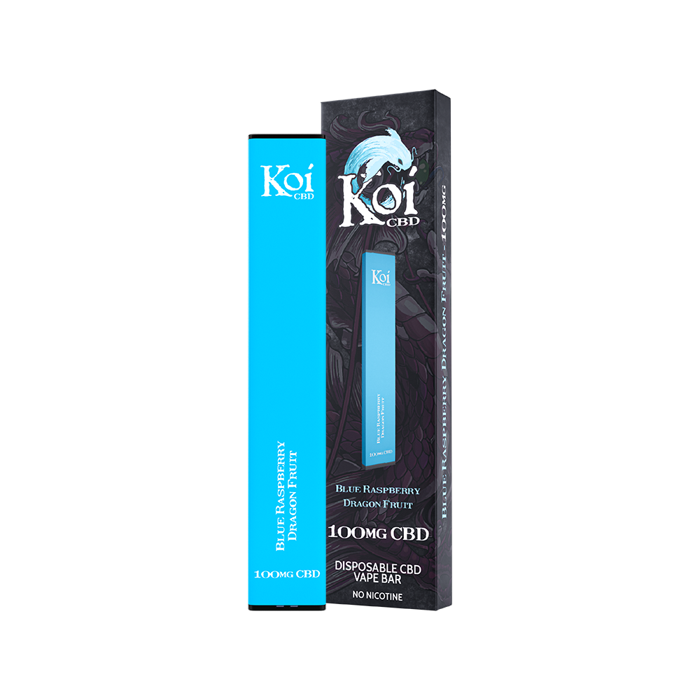 Koi CBD Disposable Vape Bar Blue Raspberry Dragon Fruit 100mg