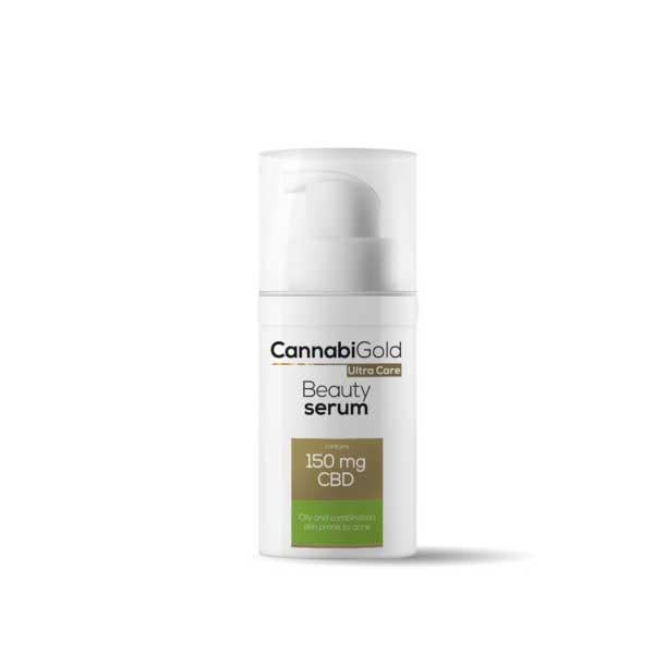 CannabiGold Ultra Care Beauty Serum Oily and Combination Skin Prone to Acne 30ml 150mg