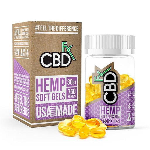 CBD +FX Hemp Soft Gels 750 Series 30 CT