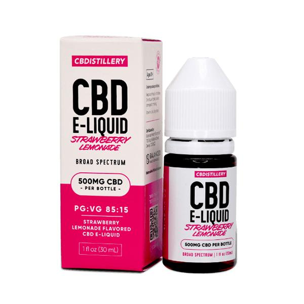 CBDISTILLERY CBD E-Liquid Strawberry Lemonade Broad Spectrum 30ml