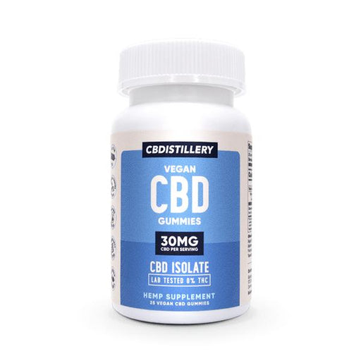CBDISTILLERY Vegan CBD Gummies 25CT  (30mg per serving)