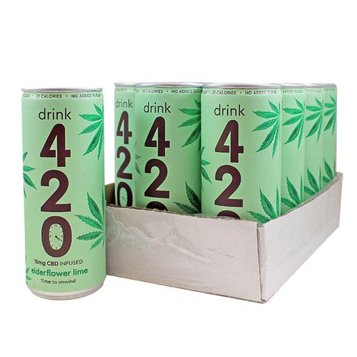 Drink 420 Elderflower Lime 15mg CBD 250ml (pack of 12)