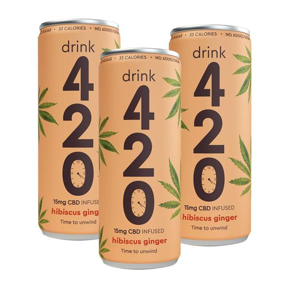 Drink 420 Hibiscus Ginger 15mg CBD 250ml (pack of 12)