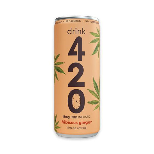 Drink 420 Hibiscus Ginger 15mg CBD 250ml