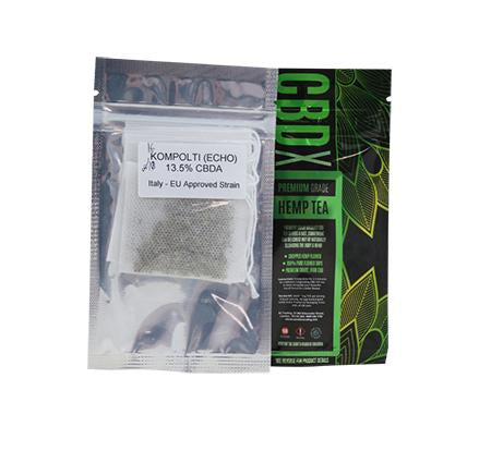CBD X Premium Grade Hemp Tea 2pcs/pack