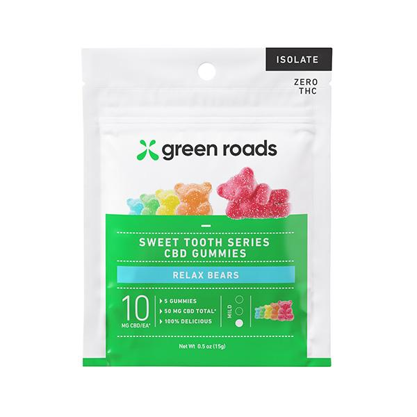 Green Roads Sweet Tooth Series CBD Gummies Relax Bears 50mg 5pcs
