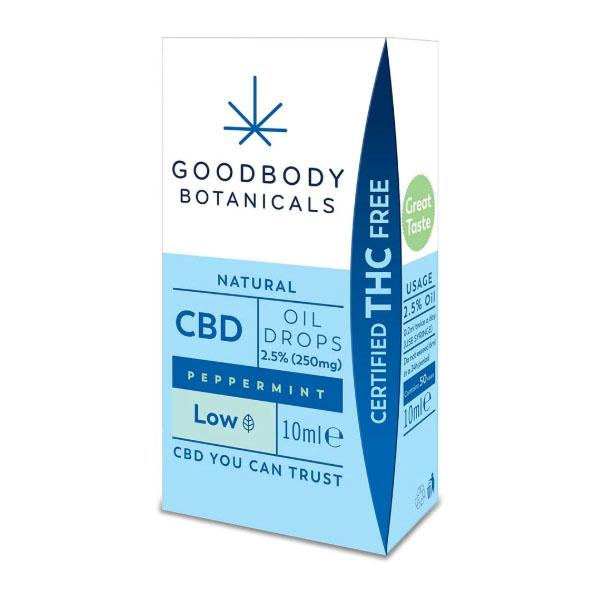 GoodBody Botanicals CBD Oil Drops Peppermint 10ml