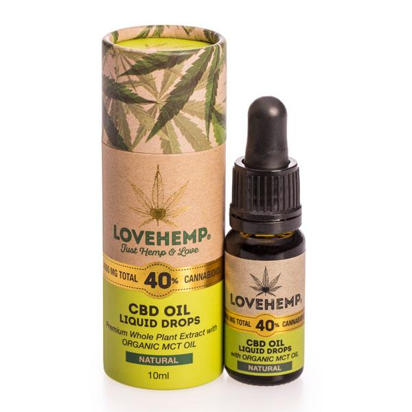 Love Hemp CBD Oil Natural 4000mg 40% 10ml