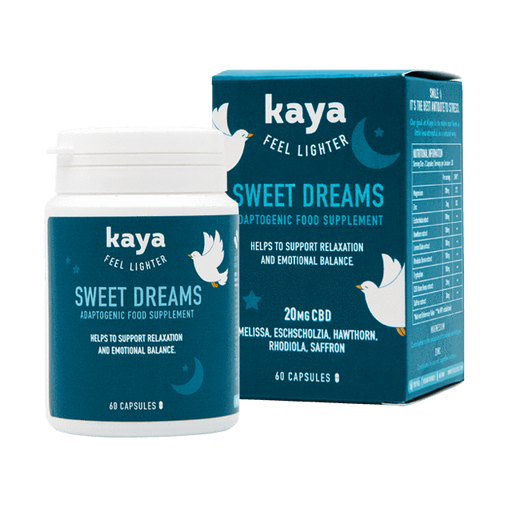 Kaya Feel Lighter Sweet Dreams Adaptogenic Food Supplement Capsules 20mg CBD 60pcs