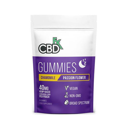 CBD +FX Hemp Gummies Chamomile Passion Flower 40mg 8CT