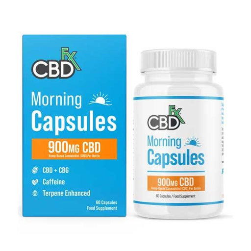 CBD +FX Morning Capsules 900mg CBD 60 Capsules