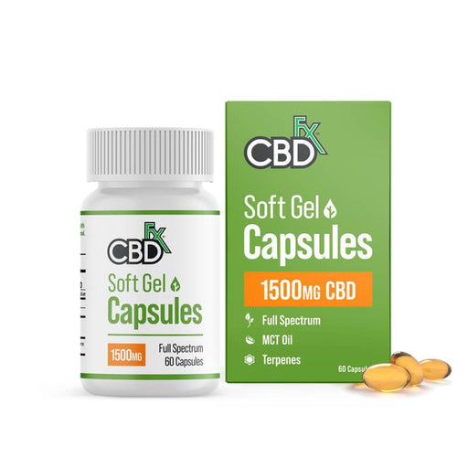 CBD +FX Hemp Soft Gel Capsules 1500mg 60pcs