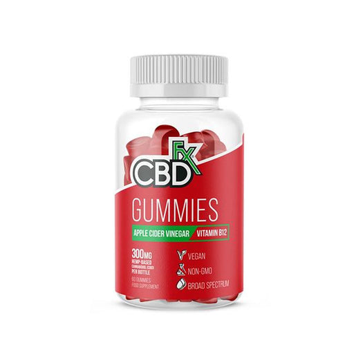 CBD +FX Hemp Gummies Apple Cider Vinegar Vitamin B12 300mg 60 gummies