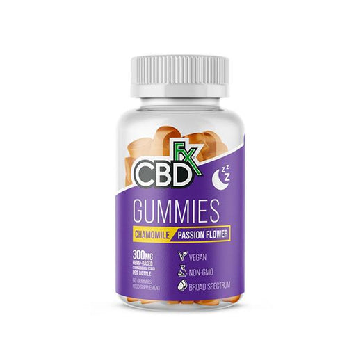 CBD +FX Hemp Gummies Chamomile Passion Flower 300mg 60 gummies