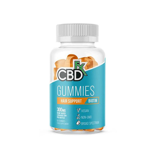CBD +FX Hemp Gummies Hair Support Biotin 300mg 60 gummies