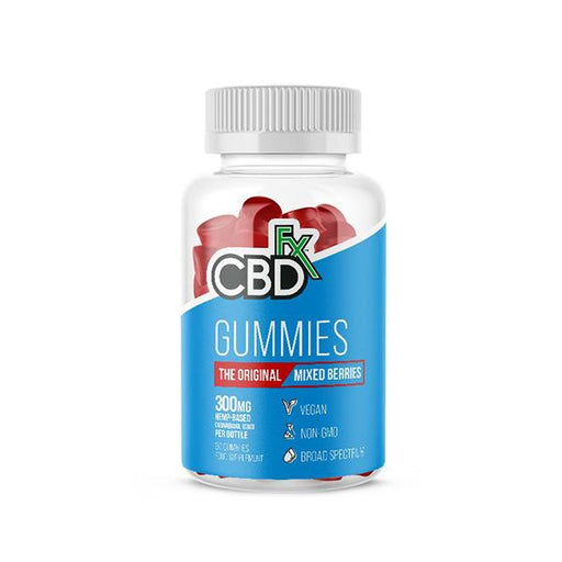 CBD +FX Hemp Gummies The Original Mixed Berry Flavour 300mg 60 gummies