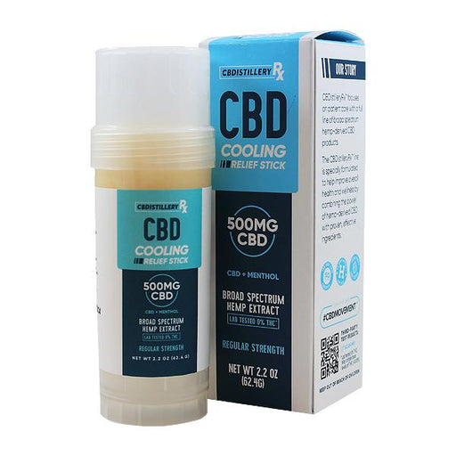 CBDISTILLERY CBD Cooling Relief Stick Hemp Extract + Menthol 2.2 Oz