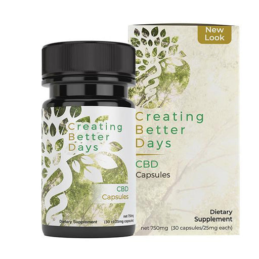 Creating Better Days CBD Capsules Dietary Supplement 750mg 30 pack