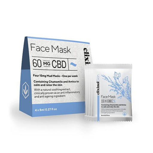 Elixinol Skin Face Mask 60mg 4x8ml