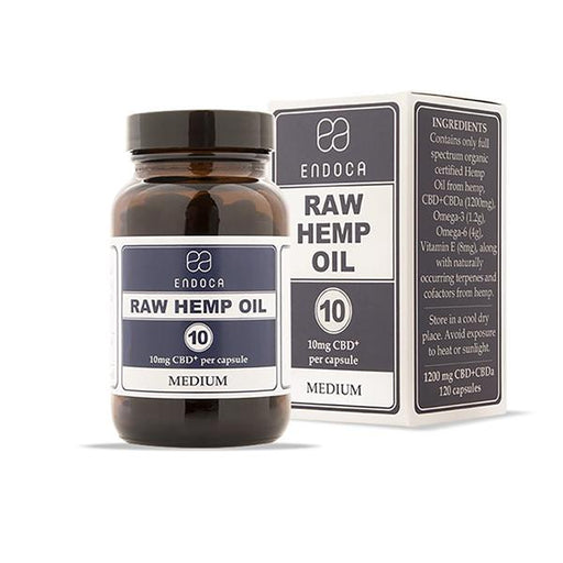 Endoca CBD Raw Hemp Oil Capsules 120pcs