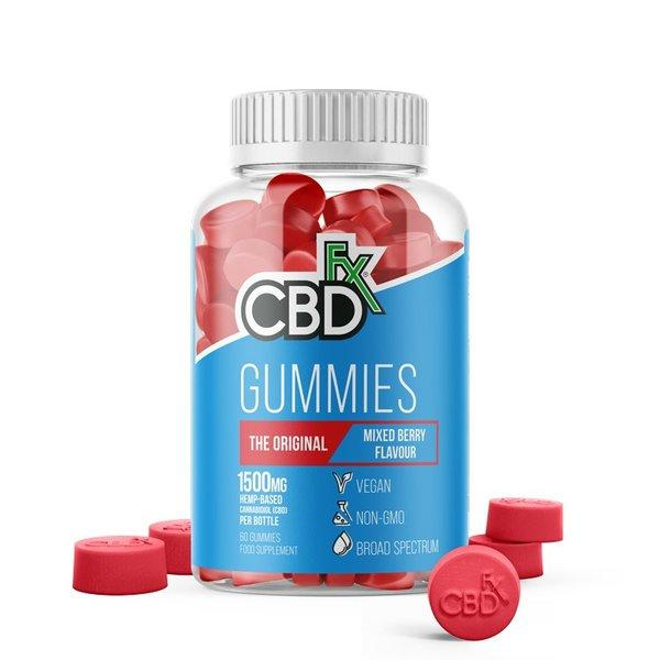 CBD +FX Hemp Gummies The Original Mixed Berry Flavour 1500mg 60 gummies