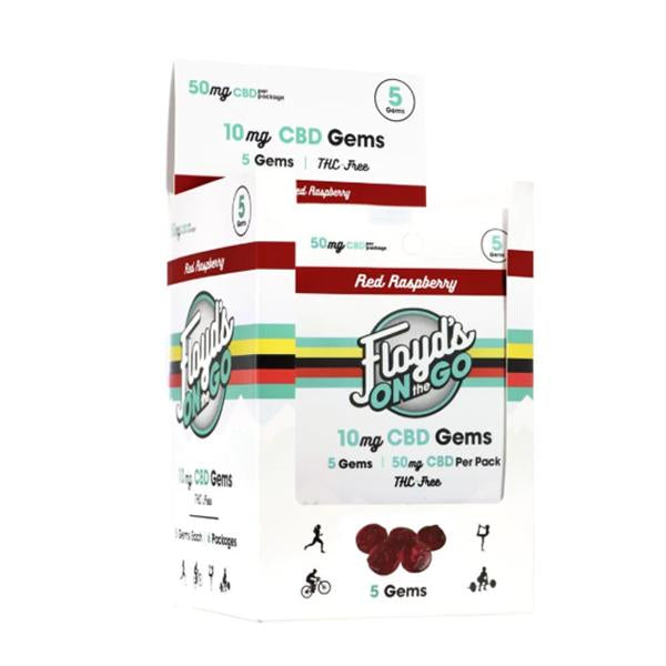 Floyd's On The Go CBD Gems Red Raspberry (6 PACK)