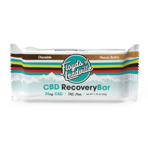 Floyd's Of Leadville CBD Recovery Bar Chocolate Peanut Butter 25mg 50g