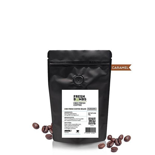 Fresh bombs Caramel Coffee Beans 4oz 35mg