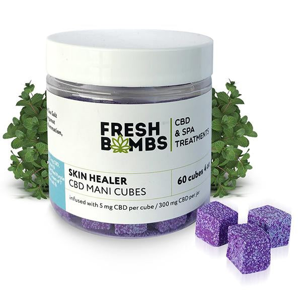 Fresh Bombs CBD Mani Cubes 5mg CBD 4 Oz 60 pcs/pack